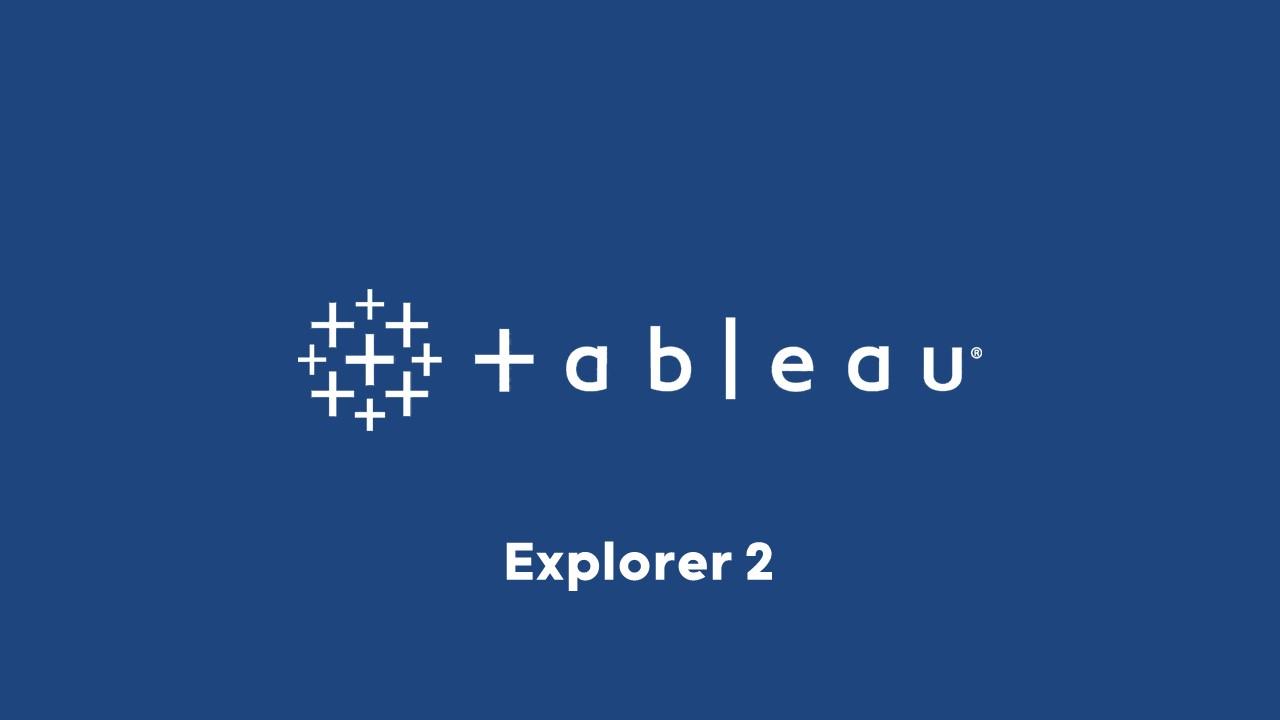 Illustration formation Tableau Explorer 2