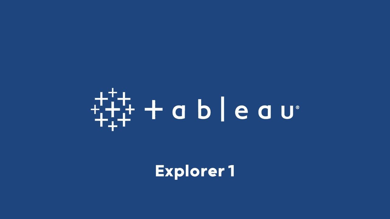 Illustration formation Tableau Explorer 1